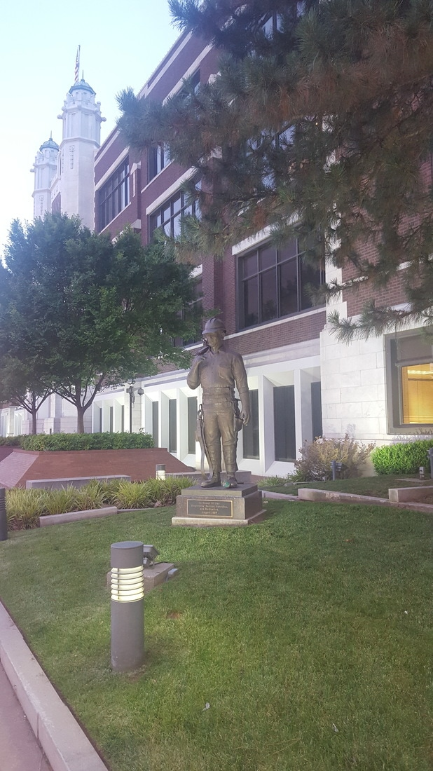Tulsa downtown statue